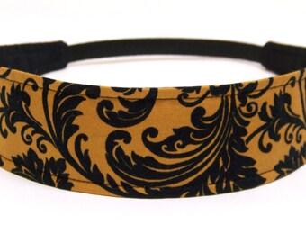 Reversible Fabric Headband   -  AMBER      Headbands for Women