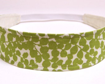 Headband Reversible Fabric - Green Leaves & Vines Floral Print  - Headbands for Women - BREE