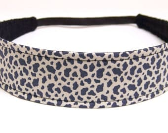 Headband Reversible Fabric   -  Black & White Animal Print  -  Headbands for Women - GIGI