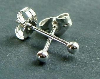 Tiny Ball Studs Tiny Round Earrings Tiny Round Studs Petite Round Stud Earrings Sterling Silver Post Earrings Tiny Earrings Studs