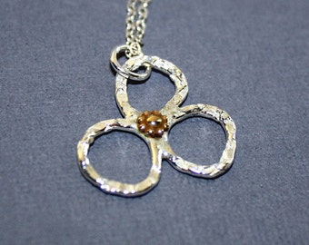 Free Form Flower Necklace