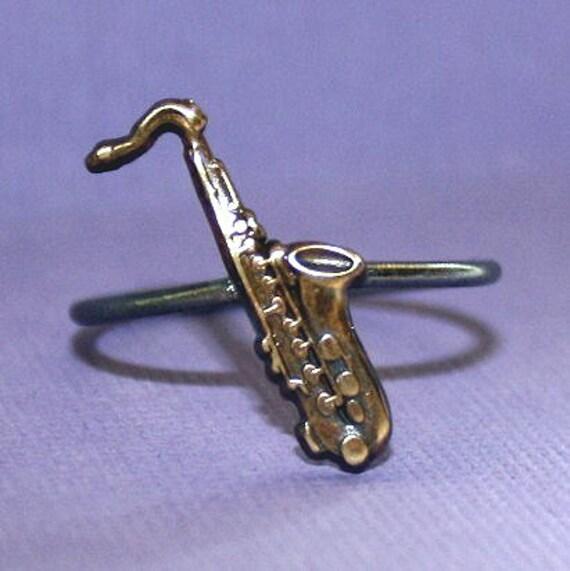 Saxophone jewelry | Etsy