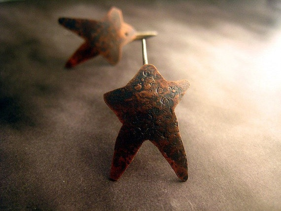 Rustic Star Earrings