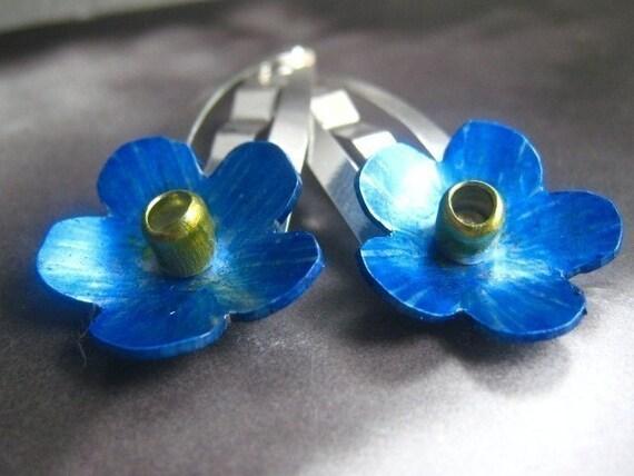 Little Flower Hair Clips (blue)