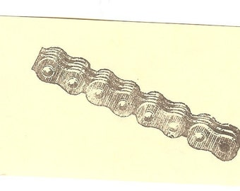 Bike Chain Unmounted Rubber Stamp