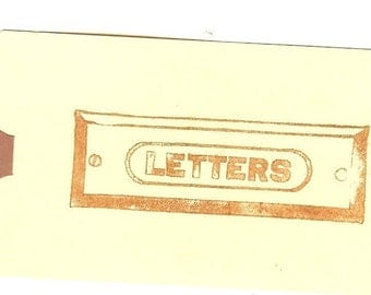 Vintage LETTERS mail sign Unmounted Rubber Stamp