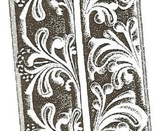 Flourish Background Unmounted Rubber Stamp zNe