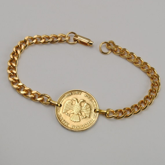 Russia Coin Bracelet 1993 Double Headed Eagle Coin