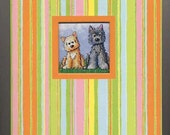 Cairn Terrier Dogs Lined Journal
