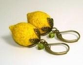Vintage Lemon Earrings