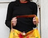 Slouch Bag - Tie Dye Flowers