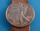 1940 Walking Liberty Copper Money Clip