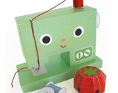 Happy Sewing Machine and Friends Printable Paper Craft PDF