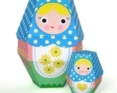 Daisy Matryoshka Nesting Doll Printable Paper Craft PDF