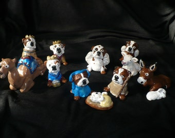 Custom Dog Nativity Set your dogs or favorite breed