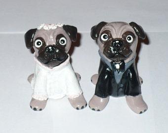Dog Cake Topper, Made to Order Pug Wedding Topper