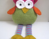 Sale - Amigurumi Knit Owl Pattern Digital Download