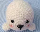 Sale - Amigurumi Pattern Crochet Baby Seal Digital Download