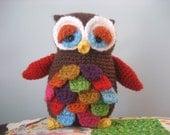 Mr. Hoot Amigurumi Owl Pattern Digital Download