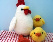 Amigurumi Knit Chicken and Chicks Pattern Set Digital Download