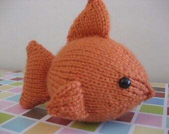 Sale - Amigurumi Knit Goldfish Pattern Digital Download