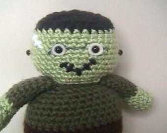 Sale - Amigurumi Crochet Frankenstein Pattern Digital Download