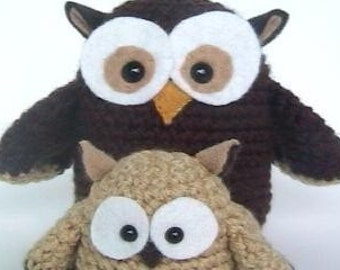 Amigurumi Crochet Owl Pattern Digital Download