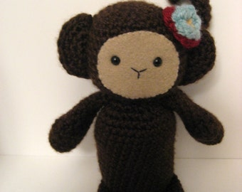 Sale - Amigurumi Crochet Monkey Pattern Digital Download