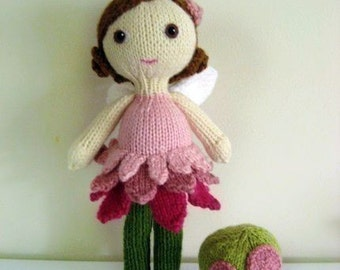Amigurumi Knit Fairy Doll and Mushroom Pattern Set Digital Download