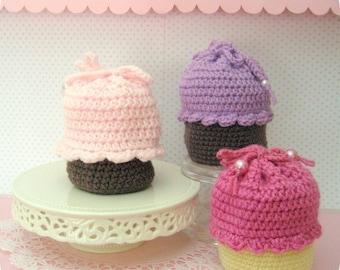 Amigurumi Crochet Cupcake Purse Pattern Digital Download