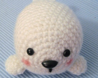 Amigurumi Crochet Baby Seal Pattern Digital Download