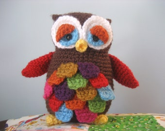 Amigurumi Crochet Mr. Hoot Owl Pattern Digital Download