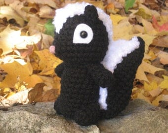 Sale - Amigurumi Crochet Skunk Pattern Digital Download