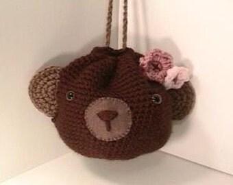 Sale - Amigurumi Crochet Bear Purse Pattern Digital Download