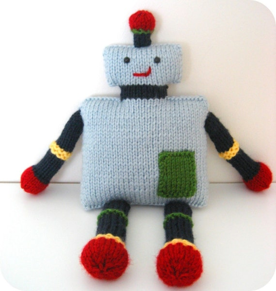 Sale - Amigurumi Knit Robot Pattern Digital Download