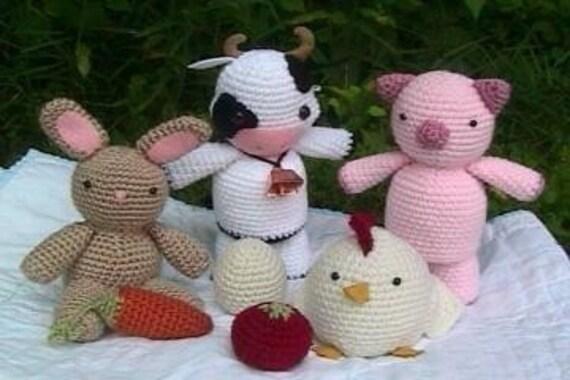 Amigurumi Crochet Farm Animal Pattern Set Digital Download