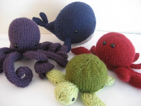 Amigurumi Sea Animals : PDF Knit Amigurumi Sea Creatures pattern by Amy by AmyGaines