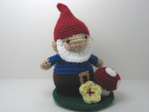 Free Amigurumi Gnome Pattern : PDF Amigurumi Garden Gnome Pattern Set by AmyGaines on Etsy