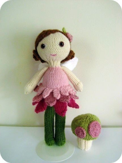 Amigurumi Knit Fairy Doll and Mushroom Pattern Set Digital