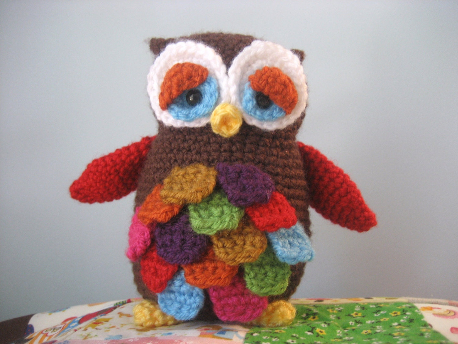 Amigurumi Owl Crochet Patterns Free : Amigurumi Crochet Mr. Hoot Owl Pattern Digital Download