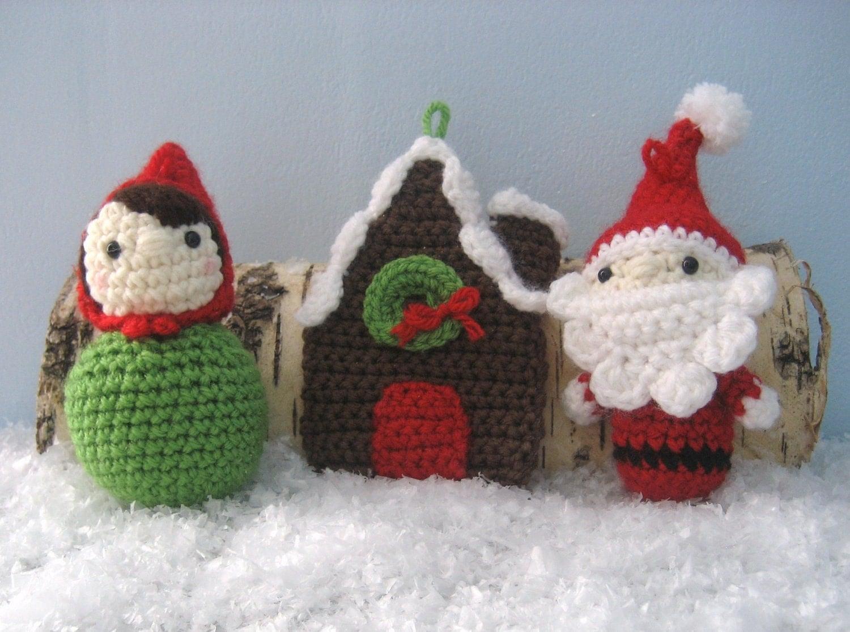 Amigurumi Crochet Christmas Ornaments : Amigurumi Crochet Woodland Christmas Ornament Pattern by ...