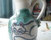 Georgie Boy Cat ceramic Pitcher Vase