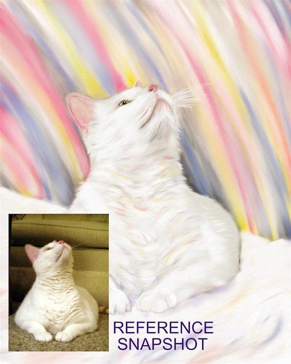 Custom cat Portrait Painting - Newfoundland art - Lifelike - Realistic - Lifelike - Pet Memorial Artwork - Christmas Pet Gift -