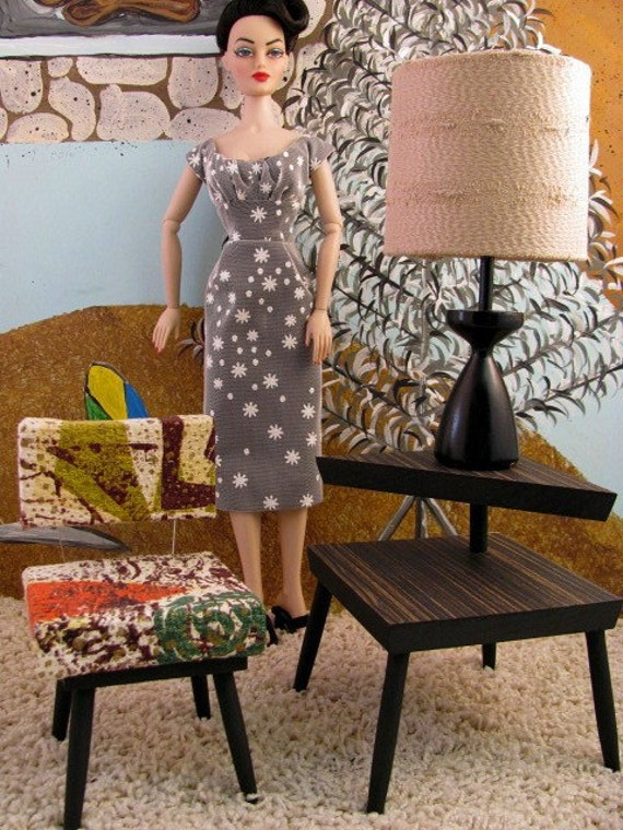 Mid Century Moderne Living Room Set for 16-in. Fashion Dolls By RETROS