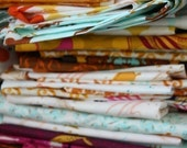 """HALF PRICE Grab Bag 10 Different Scraps, Approx. 5x7"""" ea. Prints from Heather Ross' Mendocino Fabric Collection. Includes Mermaids"""