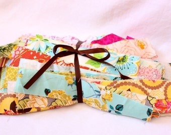 GRAB BAG of Designer Strips and Scraps. Perfect for String Quilts and Log Cabin Blocks.