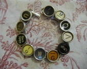 Wholesale Lot 5 TYPEWRITER Key BRACELETS New DESIGN 11 Typewriters One Of A Kind Unique