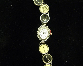 VINTAGE TYPEWRITER Key WATCH Random Keys Antique