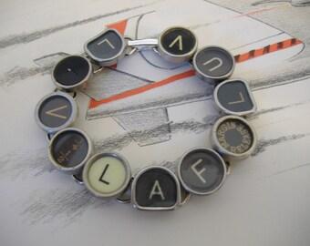 Jewelry TYPEWRITER KEY BRACELET Live Laugh Love New Design Ooak