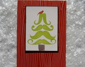 mustache tree christmas cards (set of 10)